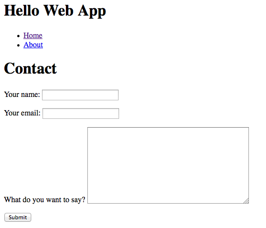 Tutorial how to set up a contact form with django hello web books of course this is minus any pretty css styling we need to do maxwellsz