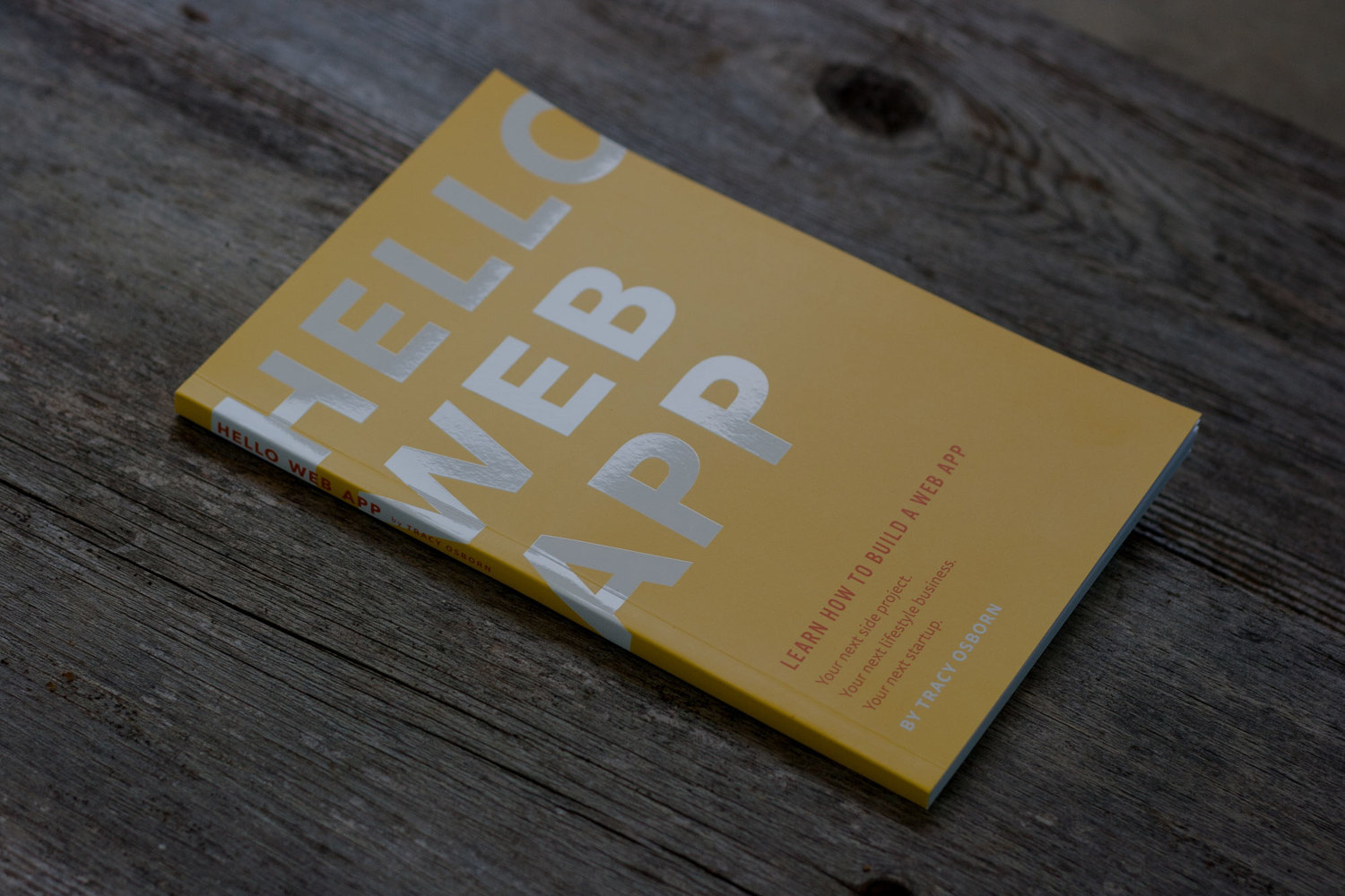 Designing and printing Hello Web App's PDF and paperback editions