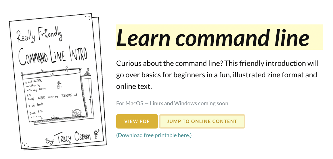 First free zine on command line basics has launched today!