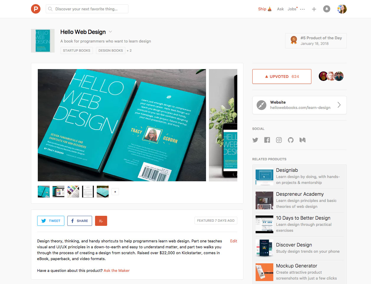 Hello Web Design's Product Hunt Launch Recap