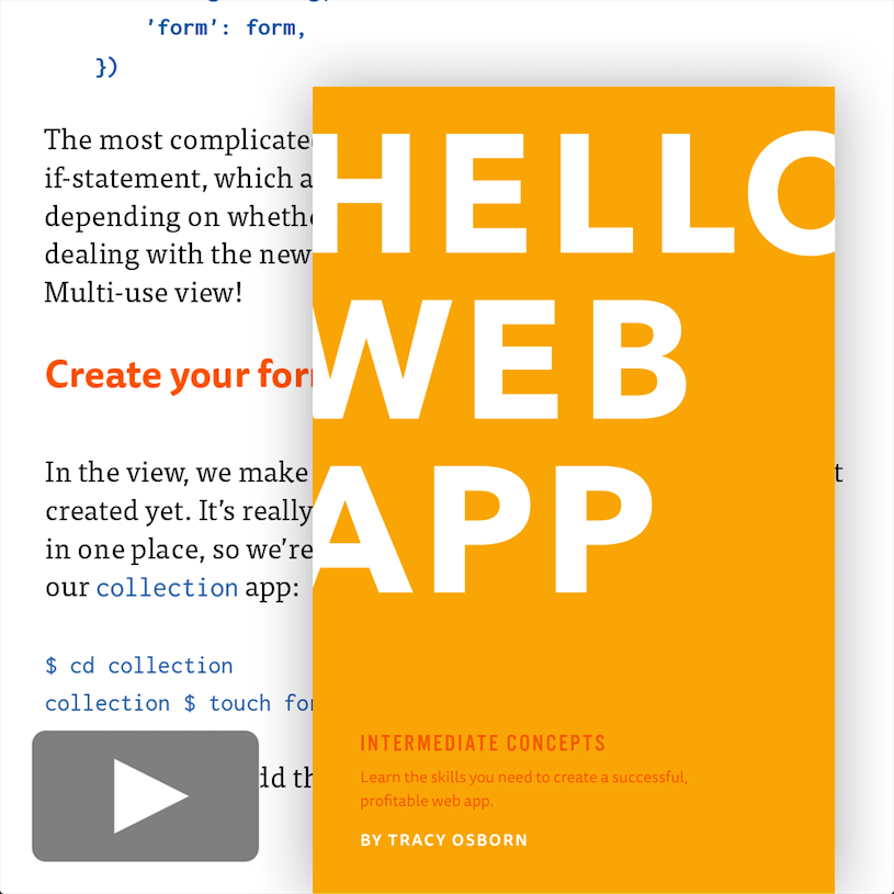 Hello Web App Intermediate Concepts paperback book