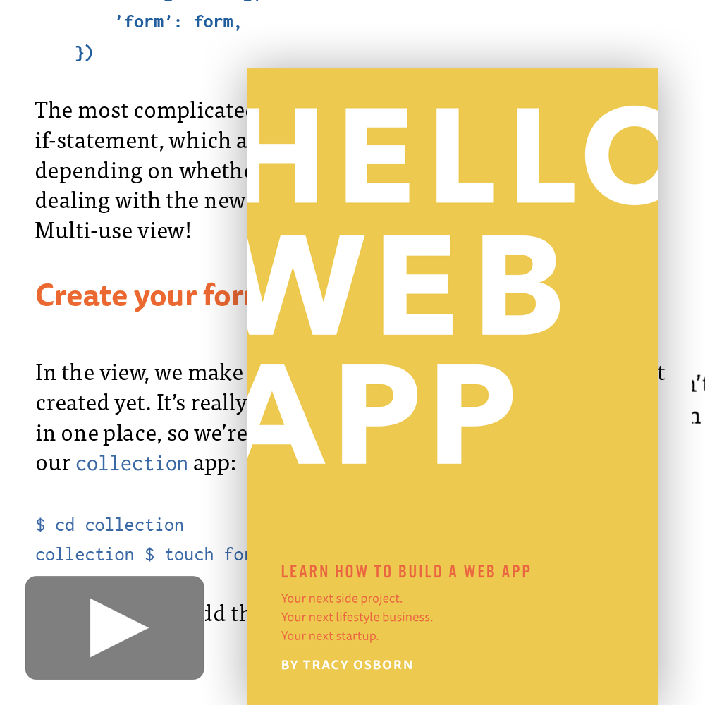 Hello Web App original video package